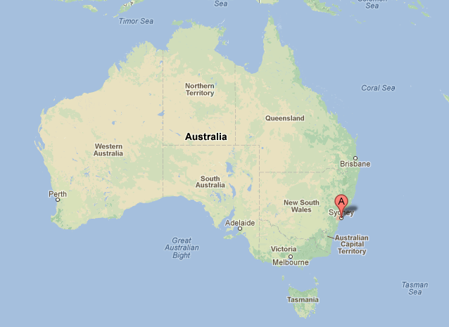 Where Is Sydney Australia On A Map.Location Of Sydney Sydney Australia